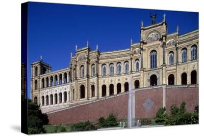 Maximilianeum, Seat of Bavarian Parliament in Munich, 1874-Friedrich Burklein-Stretched Canvas Print
