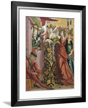 Catherine Visited in Prison by Maxentius's Wife-Friedrich Pacher-Framed Giclee Print