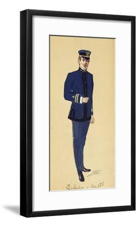Costume Sketch for Role of Pinkerton in Opera Madame Butterfly, 1904-Giacomo Puccini-Framed Giclee Print