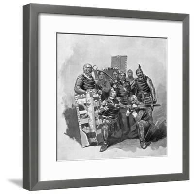 Crossbowmen and Archers from Malatesta, Sketch for Francesca Da Rimini-Gabriele D'Annunzio-Framed Giclee Print
