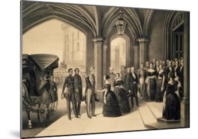Louis-Philippe's Journey in England, 1844, King Being Received at Windsor Castle, October 8, 1844-Edouard Pingret-Mounted Giclee Print