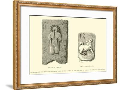 Sculptures of the Period of the Incas-?douard Riou-Framed Giclee Print
