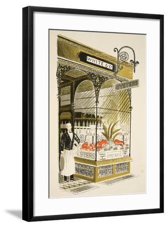 Oyster Bar-Eric Ravilious-Framed Giclee Print