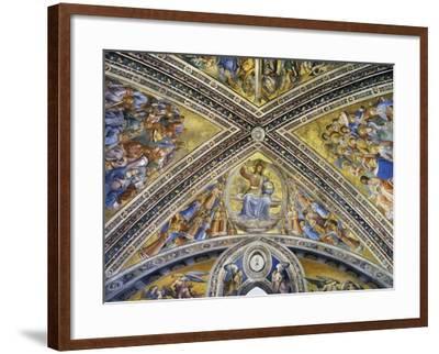 Christ Judge Amongst Angels, Apostles and Prophets, 1447-1504-Fra Angelico-Framed Giclee Print