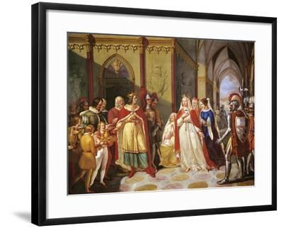 Tancred Sending Constance of Hauteville Back to Her Husband Henry IV-Gennaro Maldarelli-Framed Giclee Print