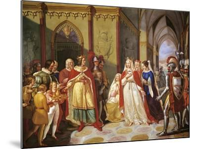 Tancred Sending Constance of Hauteville Back to Her Husband Henry IV-Gennaro Maldarelli-Mounted Giclee Print