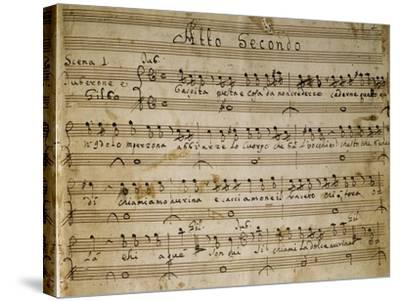 Autograph Music Score of the Second Act of the Opera the Chinese Idol, 1767-Giovanni Paisiello-Stretched Canvas Print