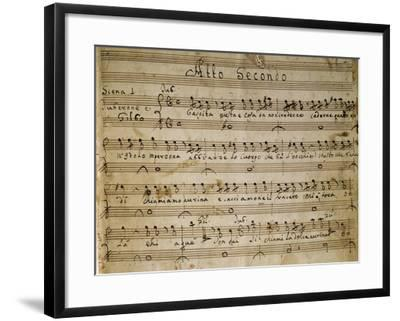 Autograph Music Score of the Second Act of the Opera the Chinese Idol, 1767-Giovanni Paisiello-Framed Giclee Print