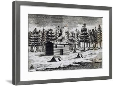 Wooden Hut on Shore of Hudson Bay-Henry Ellis-Framed Giclee Print