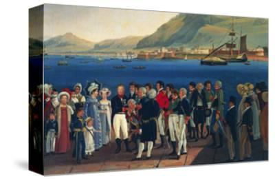 Infante Carlos, Duke of Calabria's Departure from Palermo to Naples-Giovanni Cobianchi-Stretched Canvas Print