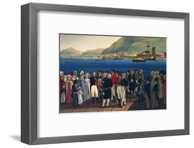 Infante Carlos, Duke of Calabria's Departure from Palermo to Naples-Giovanni Cobianchi-Framed Giclee Print
