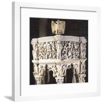 Italy, Cathedral of Pisa, Pergamon or Pulpit, 1301-1310-Giovanni Pisano-Framed Giclee Print