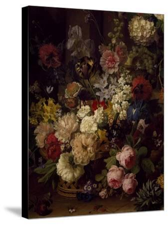 The Basket of Flowers, Detail from Julia's Tomb, 1804-Jan Frans van Dael-Stretched Canvas Print