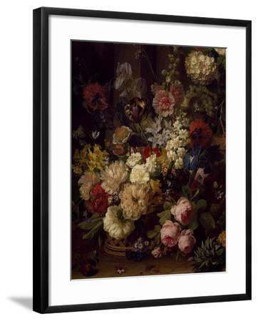 The Basket of Flowers, Detail from Julia's Tomb, 1804-Jan Frans van Dael-Framed Giclee Print