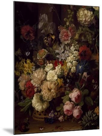 The Basket of Flowers, Detail from Julia's Tomb, 1804-Jan Frans van Dael-Mounted Giclee Print