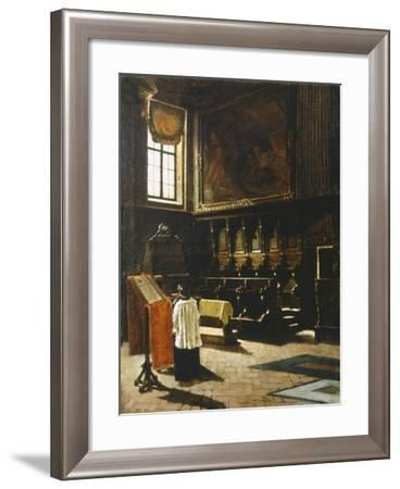 The Choir of the Church of St Anthony in Milan, 1879-Giovanni Segantini-Framed Giclee Print