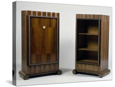 Art Deco Style Mini Bar and Bookcase, Stelcavgo Model, 1928 and 1927-Jacques-emile Ruhlmann-Stretched Canvas Print