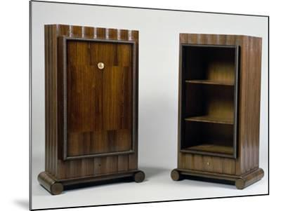 Art Deco Style Mini Bar and Bookcase, Stelcavgo Model, 1928 and 1927-Jacques-emile Ruhlmann-Mounted Giclee Print