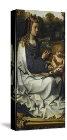 St Dorothy, Detail from Left Panel of Malvagna Triptych, Right-Hand Side, 1511-1515-Jan Gossaert-Stretched Canvas Print