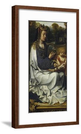 St Dorothy, Detail from Left Panel of Malvagna Triptych, Right-Hand Side, 1511-1515-Jan Gossaert-Framed Giclee Print