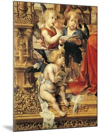 Angels Playing Musical Instruments, Detail from Central Panel of Malvern Triptych, 1510-Jan Gossaert-Mounted Giclee Print