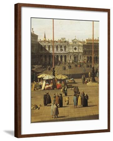Piazza San Marco, Venice, Circa 1735-Giovanni Antonio Canal-Framed Giclee Print