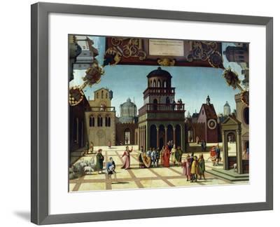 Nathan and David in Jerusalem, Detail from Stories of David, 1534-Hans Sebald Beham-Framed Giclee Print