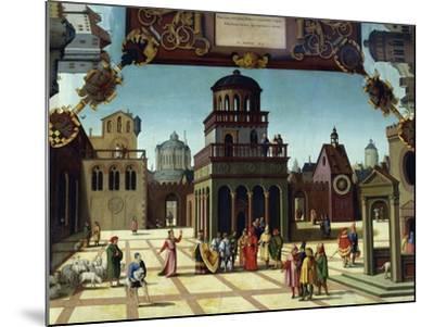 Nathan and David in Jerusalem, Detail from Stories of David, 1534-Hans Sebald Beham-Mounted Giclee Print