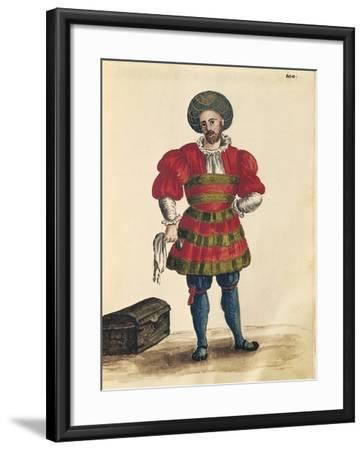 Venetian Clothing: Venetian Traveler-Jan van Grevenbroeck-Framed Giclee Print