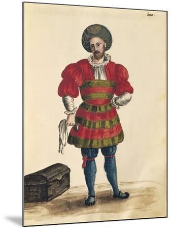 Venetian Clothing: Venetian Traveler-Jan van Grevenbroeck-Mounted Giclee Print
