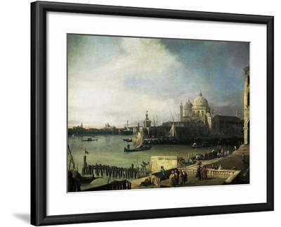 Customs and Salute Church in Venice, 1726-1728-Giovanni Antonio Canal-Framed Giclee Print
