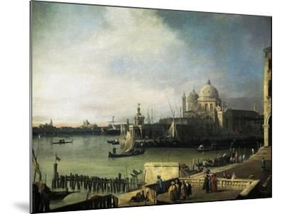 Customs and Salute Church in Venice, 1726-1728-Giovanni Antonio Canal-Mounted Giclee Print