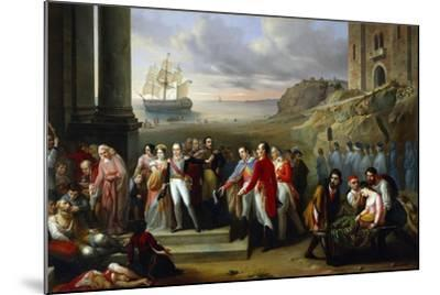 King Charles Felix Refusing to Abandon Sardinia While Epidemic Continues to Rage, 1847-Giovanni Battista Biscarra-Mounted Giclee Print