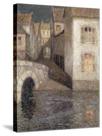 The House by the River, Chartres; Les Masons Sur La Riviere, Chartres, 1929-Henri Eugene Augustin Le Sidaner-Stretched Canvas Print
