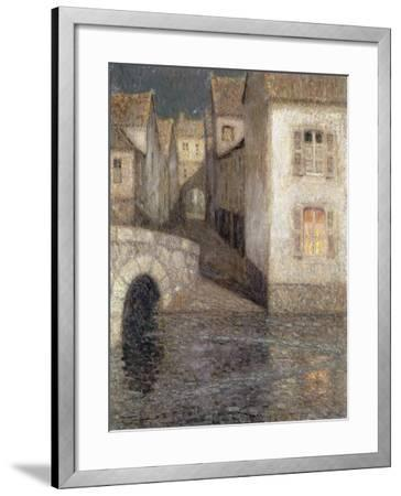 The House by the River, Chartres; Les Masons Sur La Riviere, Chartres, 1929-Henri Eugene Augustin Le Sidaner-Framed Giclee Print