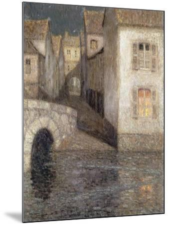 The House by the River, Chartres; Les Masons Sur La Riviere, Chartres, 1929-Henri Eugene Augustin Le Sidaner-Mounted Giclee Print