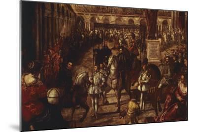 Philip II Received by Francesco Gonzaga in Mantua-Jacopo Robusti-Mounted Giclee Print