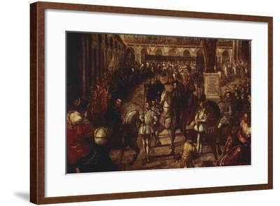 Philip II Received by Francesco Gonzaga in Mantua-Jacopo Robusti-Framed Giclee Print