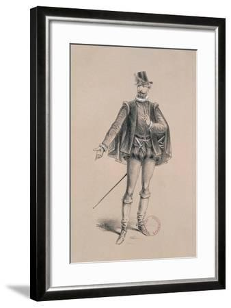 Costume Sketch for Role of Marquis of Posa for Premiere of Opera Don Carlos-Giuseppe Verdi-Framed Giclee Print
