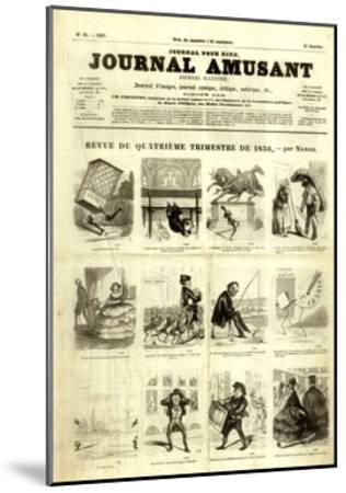 Review of the Fourth Quarter of 1856, from the 'Journal Amusant', 17 January 1857-Nadar -Mounted Giclee Print
