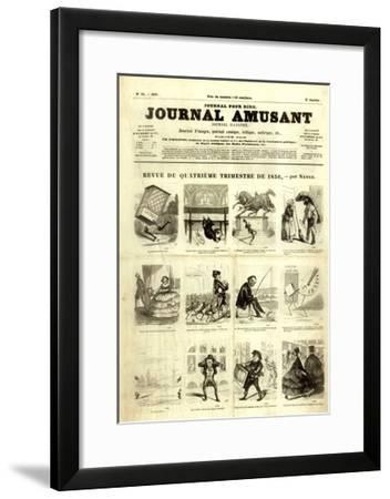 Review of the Fourth Quarter of 1856, from the 'Journal Amusant', 17 January 1857-Nadar -Framed Giclee Print