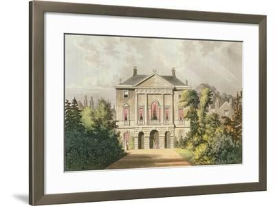 The New Lodge, Richmond Park, from Ackermann's 'Repository of Arts', Published C.1826-John Gendall-Framed Giclee Print
