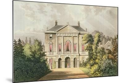 The New Lodge, Richmond Park, from Ackermann's 'Repository of Arts', Published C.1826-John Gendall-Mounted Giclee Print