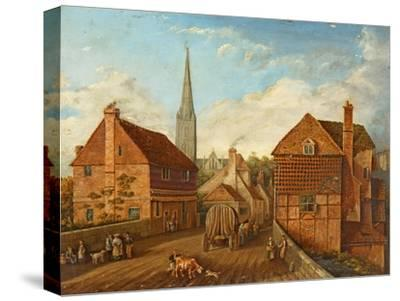 Harnham Bridge-John Gray-Stretched Canvas Print