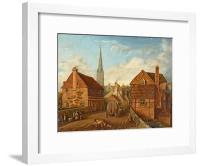 Harnham Bridge-John Gray-Framed Giclee Print