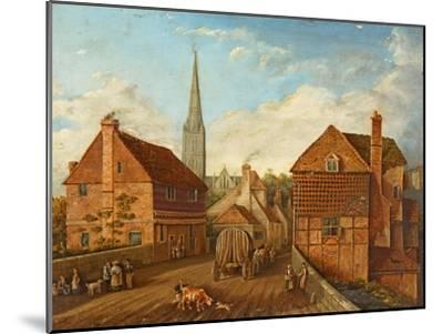 Harnham Bridge-John Gray-Mounted Giclee Print