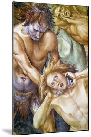 Damned in Hell, from Last Judgment Fresco Cycle, 1499-1504-Luca Signorelli-Mounted Giclee Print