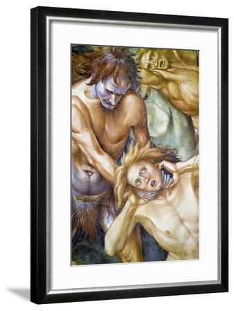 Damned in Hell, from Last Judgment Fresco Cycle, 1499-1504-Luca Signorelli-Framed Giclee Print
