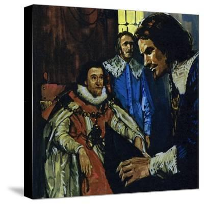 Van Dyck Came to the Attention of the Earl of Arundel Who Introduced Him to King James I-Luis Arcas Brauner-Stretched Canvas Print