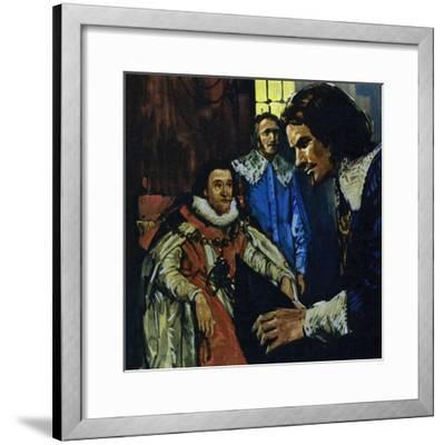 Van Dyck Came to the Attention of the Earl of Arundel Who Introduced Him to King James I-Luis Arcas Brauner-Framed Giclee Print